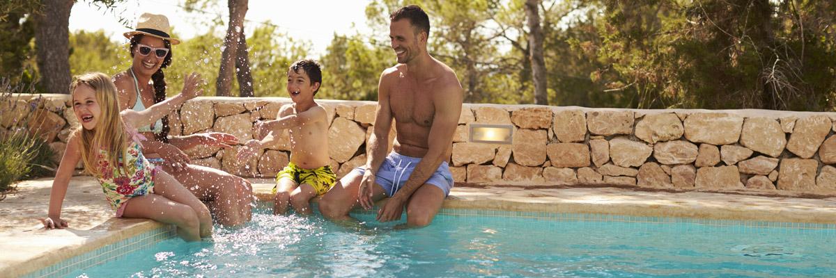 family fun in swimming pool